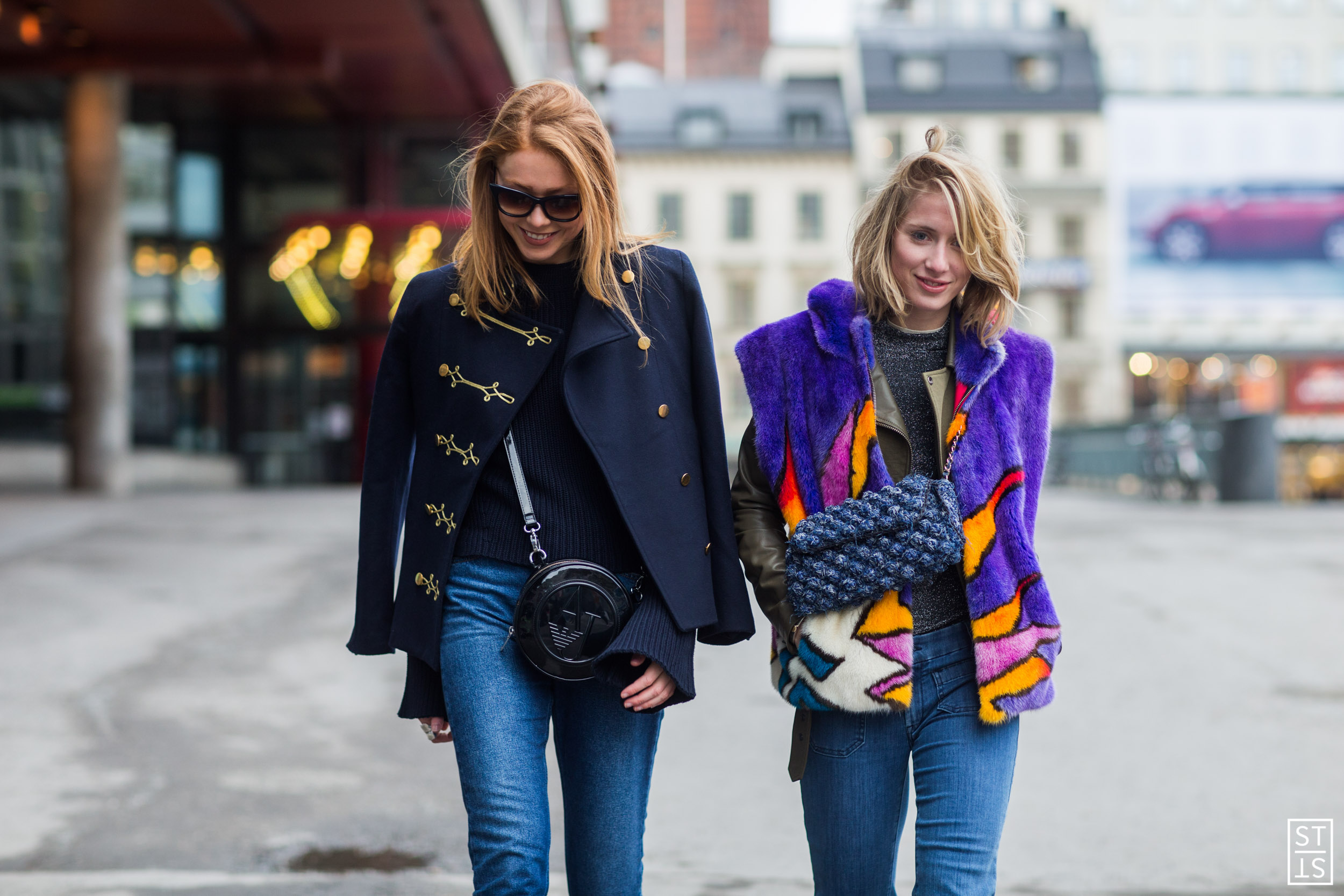 Photo: IMAXtree Street Style during Stockholm Fashion Week AW 16 Laura Tønder, Maria Just Jernov